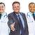 kettő · orvosok · mosolyog · mögött · nő · technológia - stock fotó © feverpitch