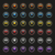 vector · media · knoppen · donkere · schone · kleur - stockfoto © filip_dokladal