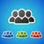 vector · sociale · icon · sticker · schone · kleur - stockfoto © filip_dokladal