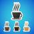 бумаги · чашку · кофе · наклейку · далеко · продовольствие - Сток-фото © filip_dokladal