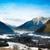 冬 · 山 · 谷 · 砂岩 · 岩 · 霧 - ストックフォト © fisfra
