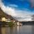 idilli · alpesi · tó · falu · Ausztria · zene - stock fotó © fisfra