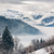 vallée · alpes · hiver · couvert · nuages · vue - photo stock © fisfra