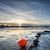 закат · лодках · пляж · пейзаж · морем - Сток-фото © flotsom