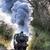 пар · поезд · небе · дым · путешествия · черный - Сток-фото © flotsom