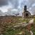 alkonyat · romok · elhagyatott · ház · naplemente · természet - stock fotó © flotsom