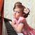 少女 · ピアノ · 写真 · 演奏 · ノート · 女性 - ストックフォト © fogen