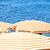 praia · guarda-chuvas · dois · em · pé · oceano · costa - foto stock © fogen