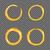penseel · gouden · vector · icon · ontwerp · goud - stockfoto © fosin