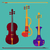 különböző · klasszikus · zene · háttér · művészet · csoport · hegedű - stock fotó © fosin
