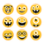 set of emoticons emoji monster faces in glasses with different expressions stock photo © fosin