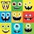 cartoon monster faces vector set cute square avatars and icons stock photo © fosin