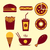 fast food vector icon set stok fotoğraf © fosin