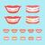процесс · лечение · зубов · иконки · стоматолога · фигурные · скобки · стоматологических - Сток-фото © fosin