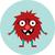 aranyos · retro · hipszter · idegen · szörny · szörnyek - stock fotó © Fosin