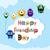 biglietto · d'auguri · felice · amicizia · giorno · saluto · cute - foto d'archivio © fosin
