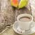friss · kávé · rusztikus · fa · deszka · makró · kép - stock fotó © fotoaloja
