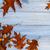 紅葉 · 木製のテーブル · コピースペース · 先頭 · 表示 · 背景 - ストックフォト © fotoaloja