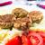 fried pork chops boiled potatoes tomatoes stock photo © fotoaloja