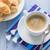 croissants · tabela · bolo · jantar · café · da · manhã - foto stock © fotoaloja