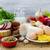 肉 · 製品 · スパイス · 表 · 食品 - ストックフォト © fotoaloja