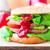 аппетитный · большой · чизбургер · свежие · салата · огурца - Сток-фото © fotoaloja