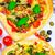 pizza · peynir · et · fesleğen · ahşap - stok fotoğraf © fotoaloja