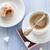 tazza · di · caffè · latte · dolce · dessert · zucchero · a · velo - foto d'archivio © fotoaloja