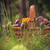 fall basket full edible mushrooms forest stock photo © fotoaloja