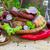 salsichas · tabela · comida · prato · alimentação - foto stock © fotoaloja