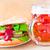 caneca · cerveja · burger · isolado · vidro · pão - foto stock © fotoaloja