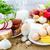 választék · élelmiszer · termékek · zöldség · gyümölcsök · hús - stock fotó © fotoaloja
