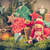 santa claus christmas ornaments green pine needles cones gifts stock photo © fotoaloja