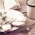 túró · kenyér · csésze · friss · tej · klasszikus · étel - stock fotó © fotoaloja