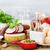 ayarlamak · farklı · peynir · camambert · mozzarella · füme - stok fotoğraf © fotoaloja