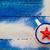 shell cup sand strewn blue boards stock photo © fotoaloja