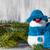 sneeuwpop · boord · houten · christmas · winter · pluche - stockfoto © fotoaloja