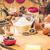meel · eieren · keukentafel · ei · tarwe · witte - stockfoto © fotoaloja