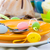 tableware one person easter table stock photo © fotoaloja