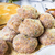 closeup meat balls ground beef rolled breadcrumbs stock photo © fotoaloja