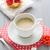 doce · sobremesa · bolo · morangos · xícara · de · café · leite - foto stock © fotoaloja