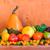 wooden table full fresh fruit baskets stock photo © fotoaloja