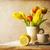 piros · tulipánok · csésze · tea · fotó · friss - stock fotó © fotoaloja