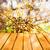 spring background blooming tree wooden panel stock photo © fotoaloja