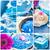 Spa · коллаж · синий · пять · цветочный - Сток-фото © fotoaloja