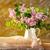 virágcsokor · öreg · váza · fehér · virág · tavasz - stock fotó © fotoaloja