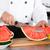 férfi · szakács · eper · gyümölcssaláta · konyha · boldog - stock fotó © fotoedu