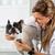 by listening to a dog veterinary bulldog french stock photo © fotoedu