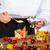 chef · frutas · delicioso · ensalada · mixto · mano - foto stock © fotoedu