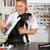 veterinário · cão · americano · veterinário · colônia · mão - foto stock © fotoedu